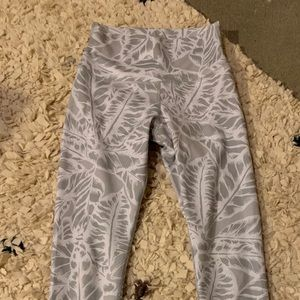 White and Gray Alo leggings